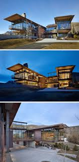 Modern Mountain House This Modern Mountain House Is Filled With Industrial Materials
