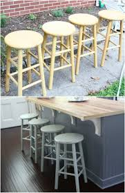 DIY Distressed Chalkboard Paint Barstools Build Your Own Bar Stools D1