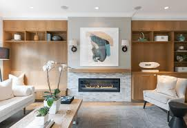 contemporary living room with built ins candace mary interiors