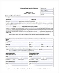 Rent Lease Application Form Free 16 Sample Lease Application Forms In Pdf Word