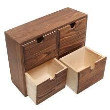 Desk Organizer Office Desk Organizer Drawer Box Holder Storage Wood Home Jewelry