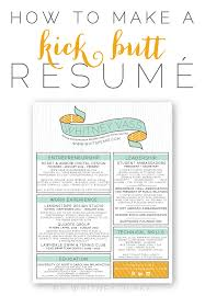... From Scratch Infographic Lifehacker Create A Professional Resume  Youtube How To Make A Kick Butt Resum Whitney Blake ...