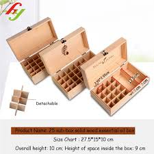 Natural Custom Logo Wooden Packaging Wood Box 25 Slot Solid Wood Essential Oil Gift Box Buy Solid Wood Essential Oil Box 25 Slot Gift Essential Oil