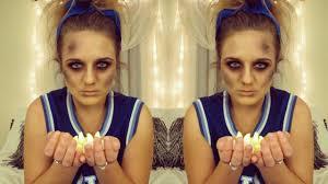 dead cheerleader costume halloween tutorial using everyday makeup
