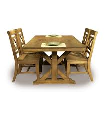 68 inch canyon x dining table pecan with canyon back chairs