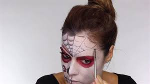 outline on forehead easy day of the dead makeup tutorial perfect for