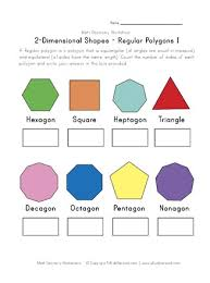 Regular Polygons Worksheet 1 All Kids Network