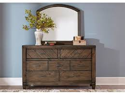 Liberty Furniture Bedroom Dresser and Mirror 833 BR DM Valley