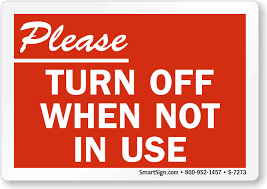 Turn Off Computer Please Turn Off When Not In Use Recycling Sign Sku S 7273