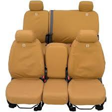covercraft rear seat cover seatsaver carhartt brown 60 40 split bench seat 4 door