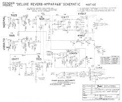 fender amp schematics fender deluxe reverb ab868 schematic