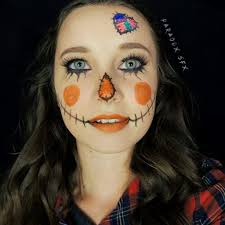 cute scarecrow makeup tutorial l 31 days of