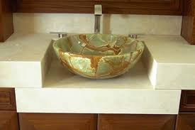 Green Onyx Stone Bathroom Sink modern-bathroom