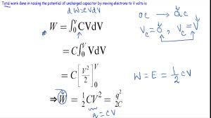 energy d in capacitor