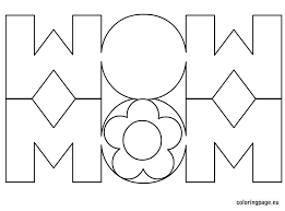 Small Picture Mom card coloring page