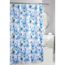 Floral Bouquet 71 in Blue and White Fabric Shower Curtain 205084