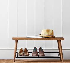 Entry benches shoe storage Small Entryway Pottery Barn Lucy Shoe Rack Pottery Barn