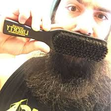 wooden beard hair comb dark hard ebony wood