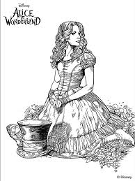 Tim Burtons Alice In Wonderland Coloring Page Were All Mad Here