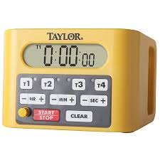 taylor precision 5839n 4 event digital timer 4 1 2 x 6 1 4 x 4 d with 1 1 4 lcd display 4 9 hours 59 minutes 59 seconds timers