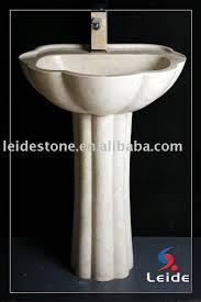 Marble pedestal sink Modern Bathroom Iran Beige Marble Pedestal Sink Ecvvcom Iran Beige Marble Pedestal Sink Buy Stone Pedestal Basinmarble