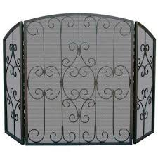 Fireplace Screens Glass Single Panel Fire Screen Traditional With Small Fireplace Screens