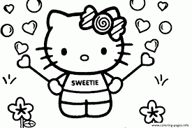 Sweet Hello Kitty Coloring Page For Girlsc1b2 Coloring Pages Printable