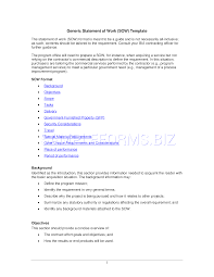 Preview Pdf Generic Statement Of Work Sow Template 6