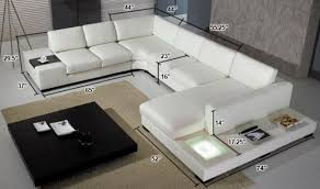 divani casa t modern italian leather sectional sofa with light