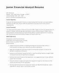 Junior Financial Analyst Resume Unique Sales Operations Analyst