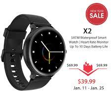 <b>Blackview X2 SmartWatch</b> 5ATM Waterproof Heart Rate Men ...