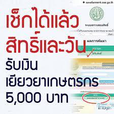 💥💥 เช็คสิทธิ์และวันรับเงินเยียวยาเกษตรกร... - ข่าวจริงประเทศไทย