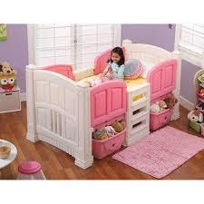 White Plastic Toddler Bed Step Girls Loft Storage Twin Bed Walmartcom