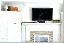 hiding tv hiding wires over fireplace how to hide flat screen cords and wires hiding wires