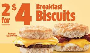 for 4 breakfast biscuits deal