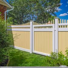 Delighful Vinyl Privacy Fence Ideas Gorgeous Sahara Yellow And Patio Decor