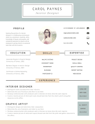Interior Design Resume Templates Awesome Design Cv Layout Funfpandroidco