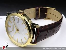 seiko automatic gold plated leather strap mens watch srpa28k1 srpa28