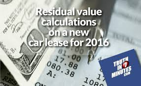 Residual Value Calculations On A New Car Lease For 2016