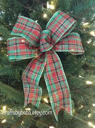 tree bow topper diy bows plaid decorative