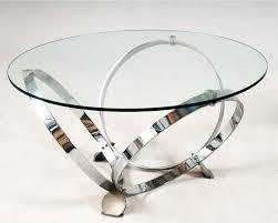 glass and chrome coffee table optional