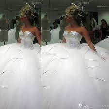2016 bling bling big poofy wedding dresses custom made plus size