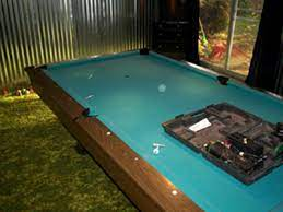 refelting a pool table an exact how