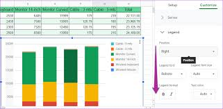 How To Create A Bar Chart In Google Sheets How To Add Text And Format Legends In Google Sheets