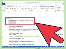 How To Create A Resume In Word 2013 Image Titled Create A Resume In