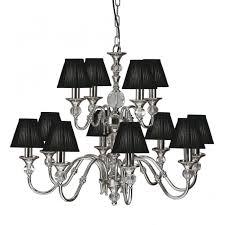 polina polished nickel cut crystal chandelier 12 light
