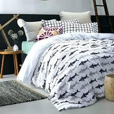 shark bedding set shark bedding twin deep blue grey and white marine style shark print modern