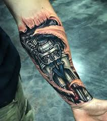 hand holding mirror tattoo. Artists Who Are Skilled With Shading Can Give The Perfect Depth To That Type Of Biomechanical Tattoo Design And Make It Look Very Realistic. Hand Holding Mirror