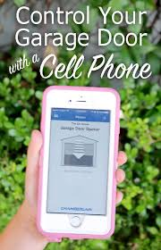 control your garage door with a cell phone