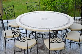 125 160cm outdoor garden round mosaic stone marble table imhotep